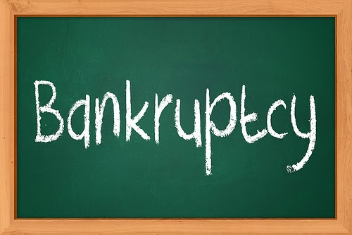 What to do when you receive an notice of bankruptcy